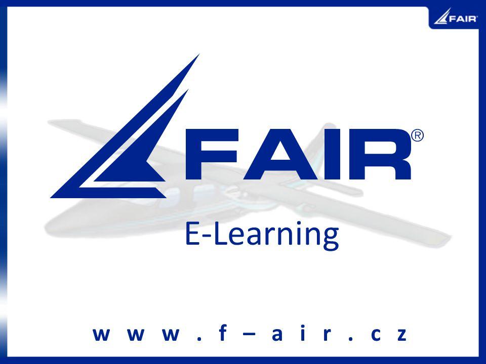 E-Learning w w w. f – a i r. c z
