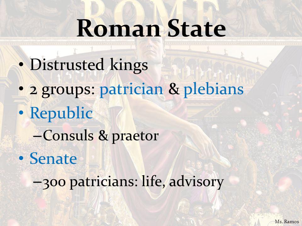 Most imp: Centuriate Assembly: elect consuls & praetors Plebians want equality – council of plebs: Tribunes By 287 B.C.
