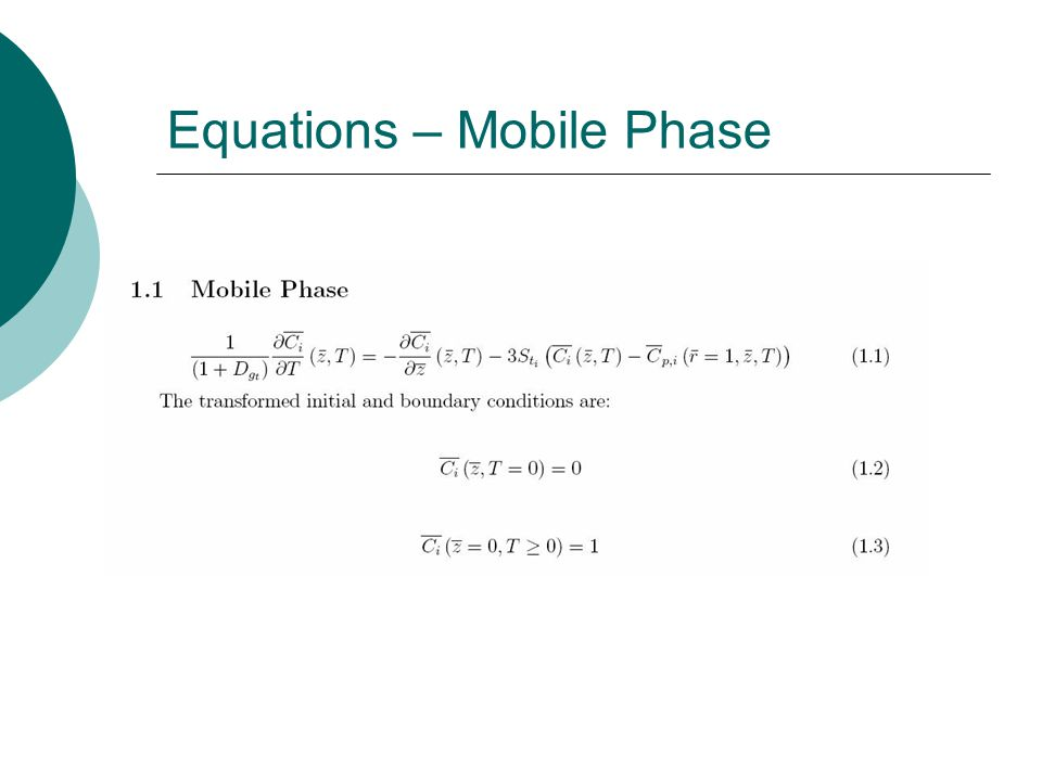 Equations – Mobile Phase