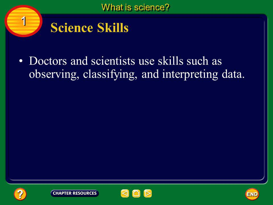 Using Science and Technology What is science? 1 1 The computer is one tool that modern scientists use to find and analyze data. The computer is an exa