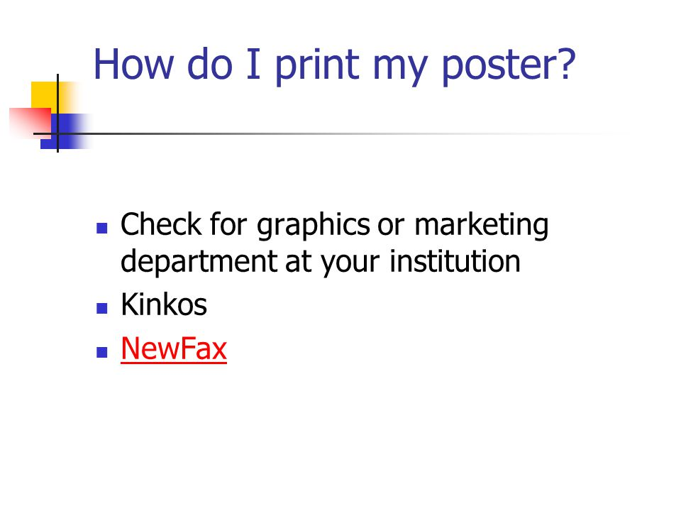 How do I print my poster.