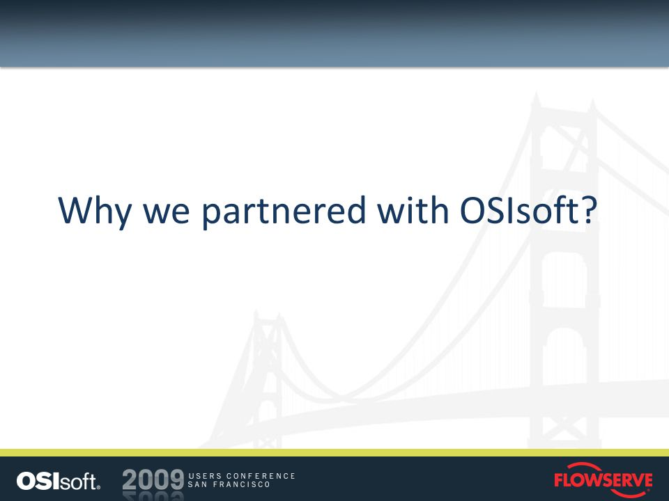Why we partnered with OSIsoft?