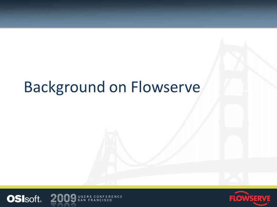 Background on Flowserve