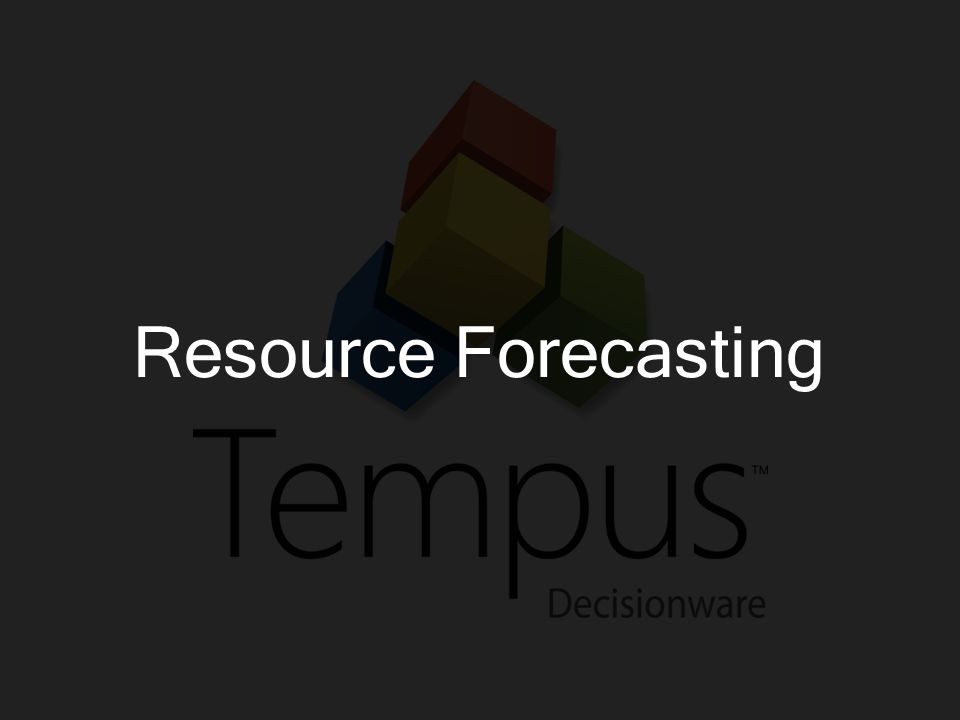 Resource Forecasting