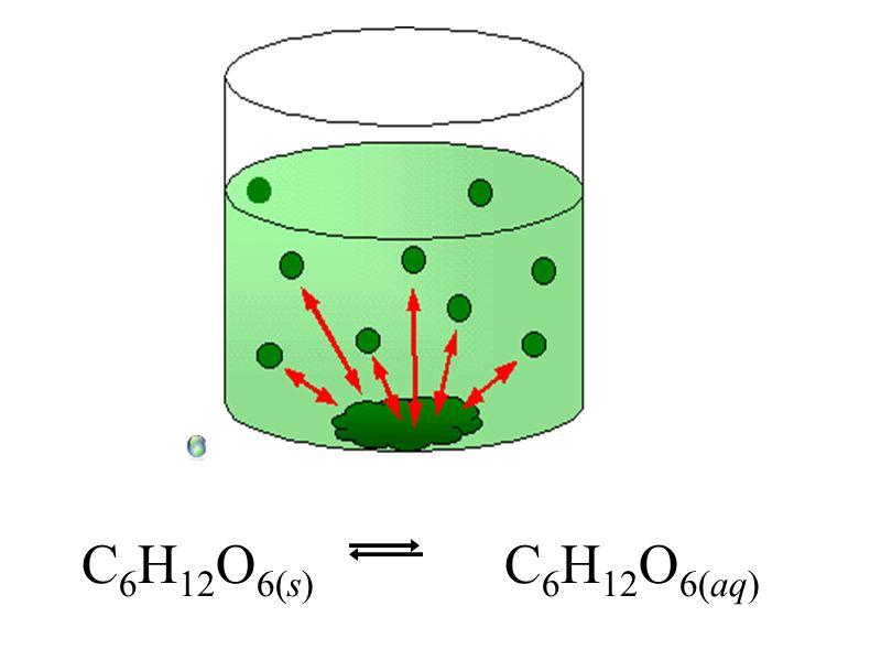 C 6 H 12 O 6(s) C 6 H 12 O 6(aq)