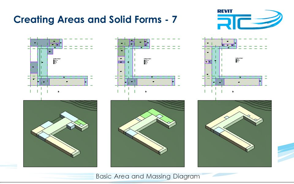 Creating Areas and Solid Forms - 7 Basic Area and Massing Diagram