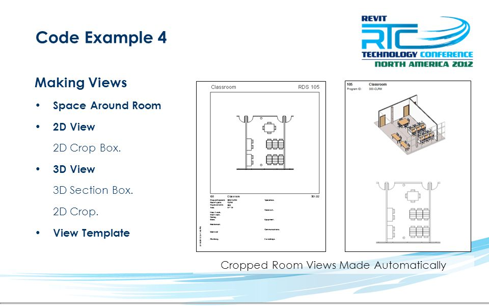 Code Example 4 Making Views Space Around Room 2D View 2D Crop Box.