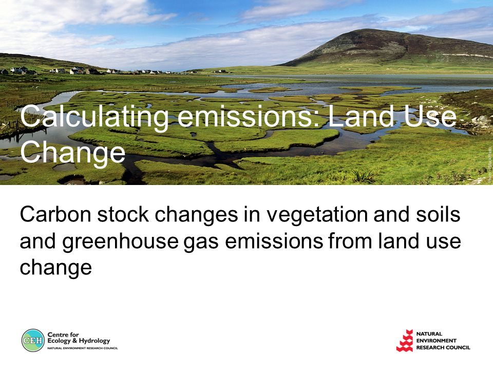 Carbon stock changes in vegetation and soils and greenhouse gas emissions from land use change Calculating emissions: Land Use Change