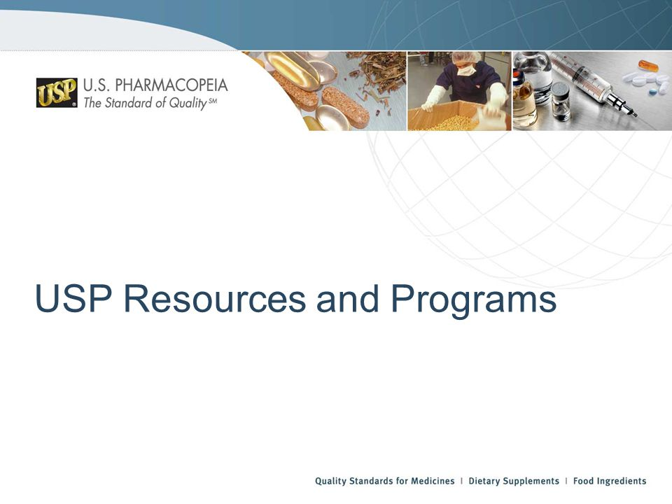 USP Resources and Programs