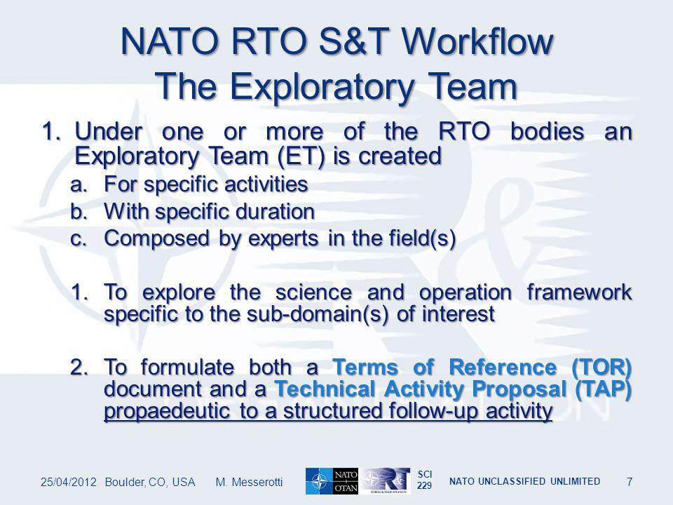 SCI 229 NATO UNCLASSIFIED UNLIMITED Satellite Failures 25/04/2012Boulder, CO, USA M. Messerotti48