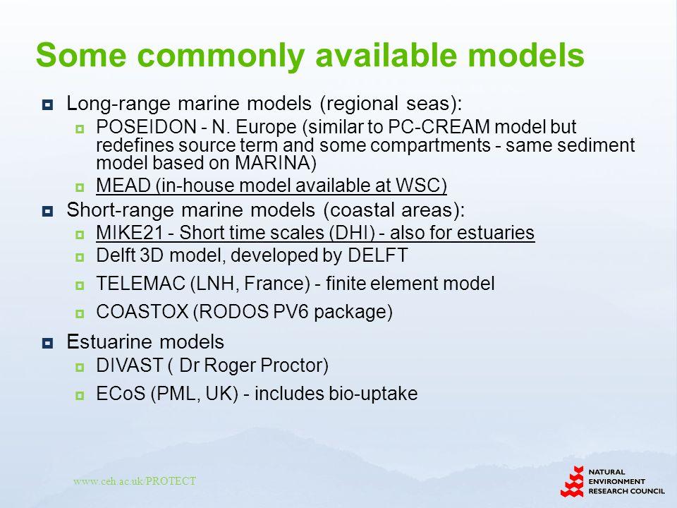 www.ceh.ac.uk/PROTECT Long-range marine models (regional seas): POSEIDON - N.