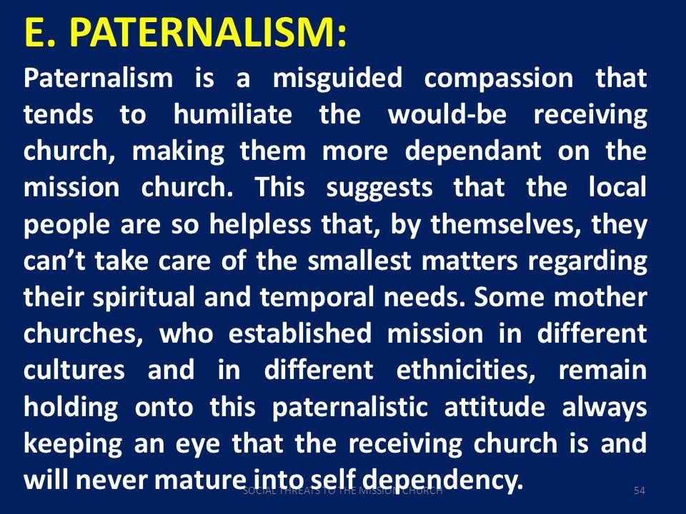 SOCIAL THREATS TO THE MISSION CHURCH54 E.