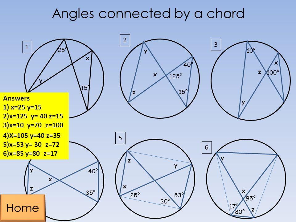 25° x 1 2 3 6 4 5 y 15° y z z x y x z x y y z x 25°53° 30° z y x 80° 17° 95° 35° 40° 125° 15° 40° 10° 100° Answers 1) x=25 y=15 2)x=125 y= 40 z=15 3)x
