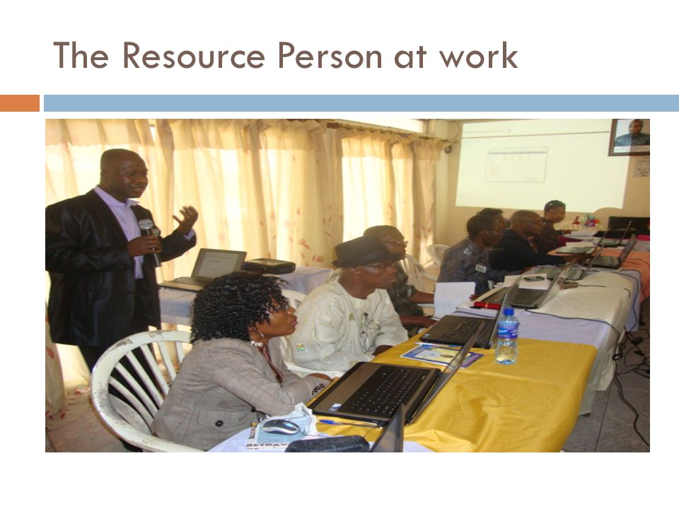 The Resource Person at work