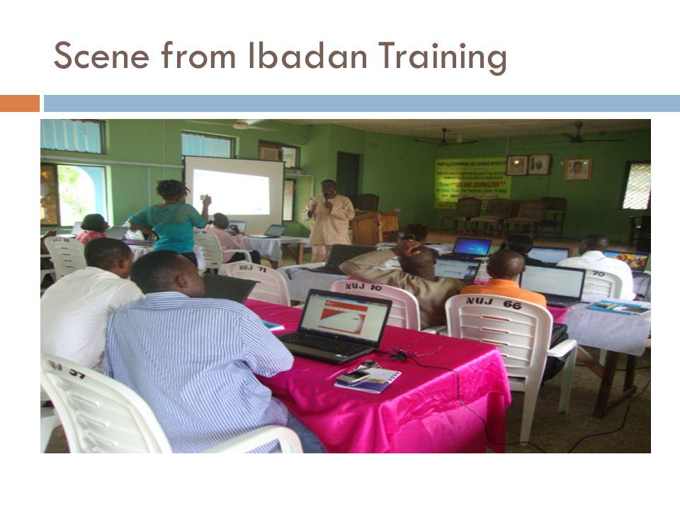 Scene from Ibadan Training