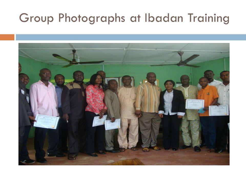 Group Photographs at Ibadan Training