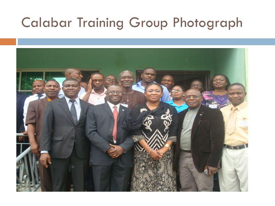 Calabar Training Group Photograph