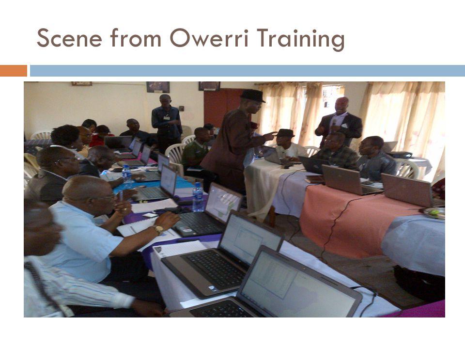 Scene from Owerri Training