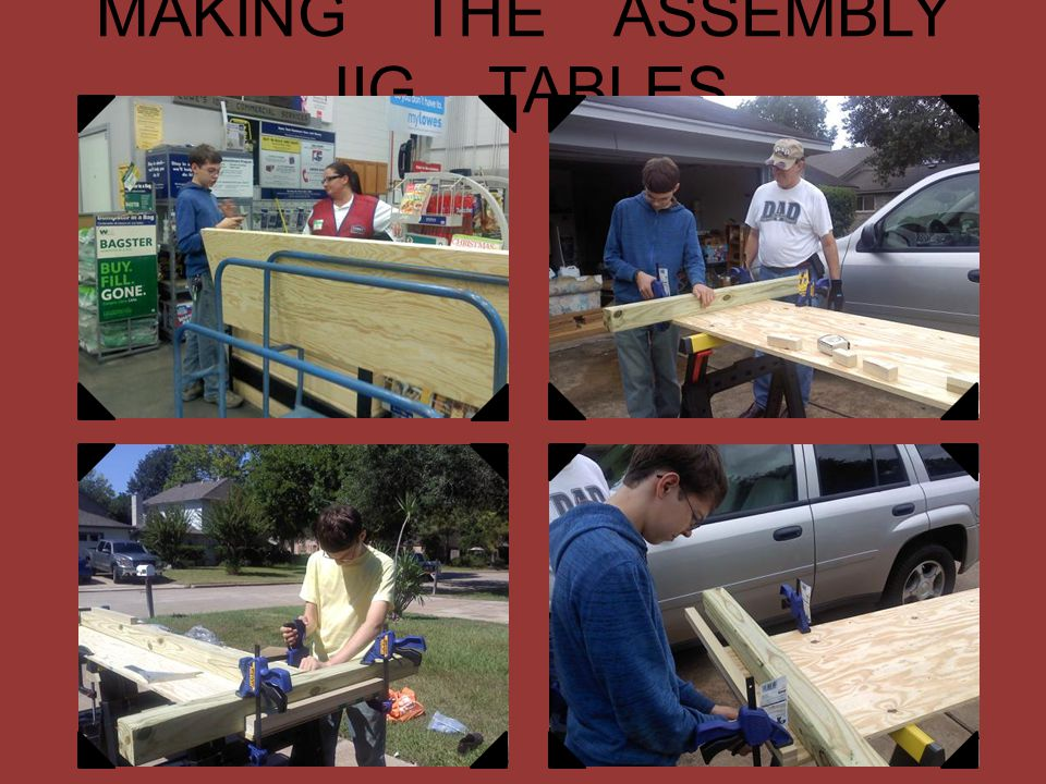 MAKING THE ASSEMBLY JIG TABLES