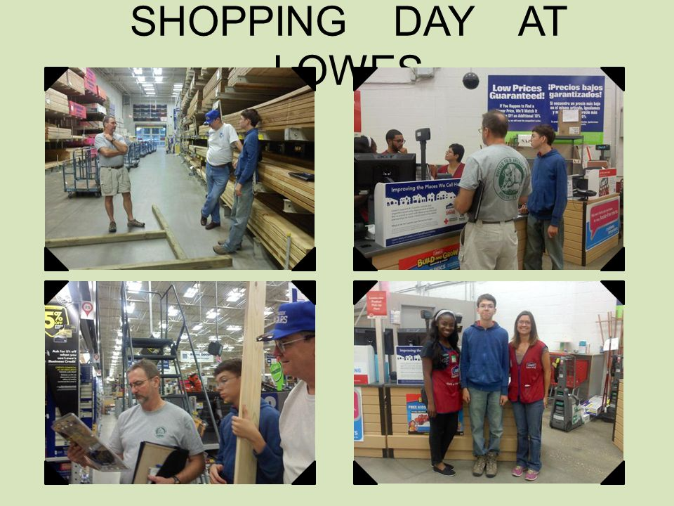 SHOPPING DAY AT LOWES