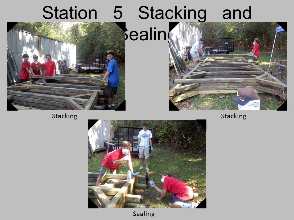 Station 5 Stacking and Sealing Stacking Sealing