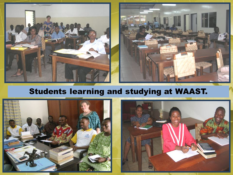 Students learning and studying at WAAST.