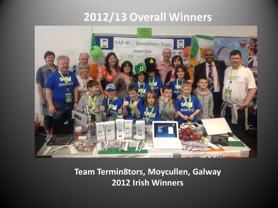 2012/13 Overall Winners Team Termin8tors, Moycullen, Galway 2012 Irish Winners