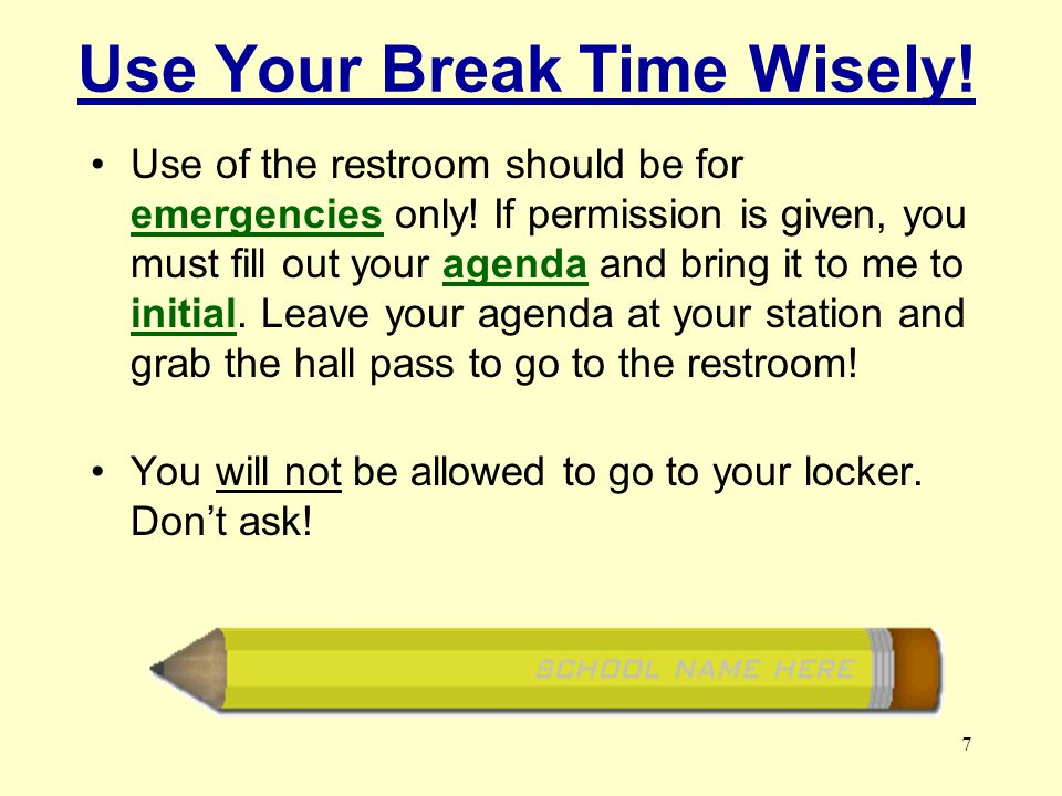 17 When school-wide announcements are made, STOP working Pay ATTENTION! LISTEN!