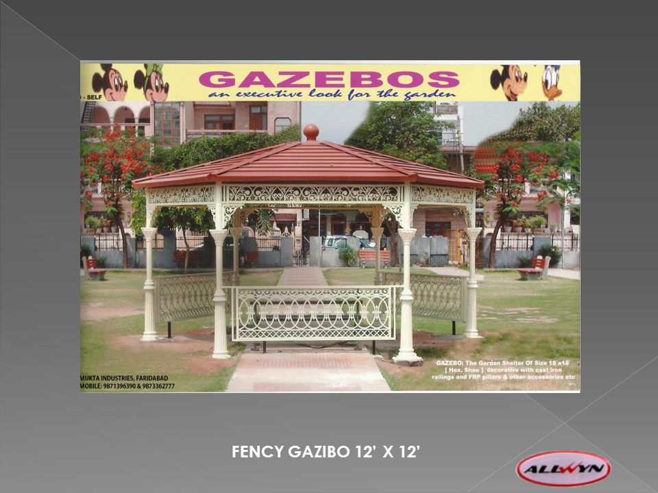 FENCY GAZIBO 12 X 12