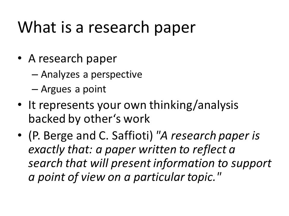 Reviewing a paper What do the researchers want to find out.