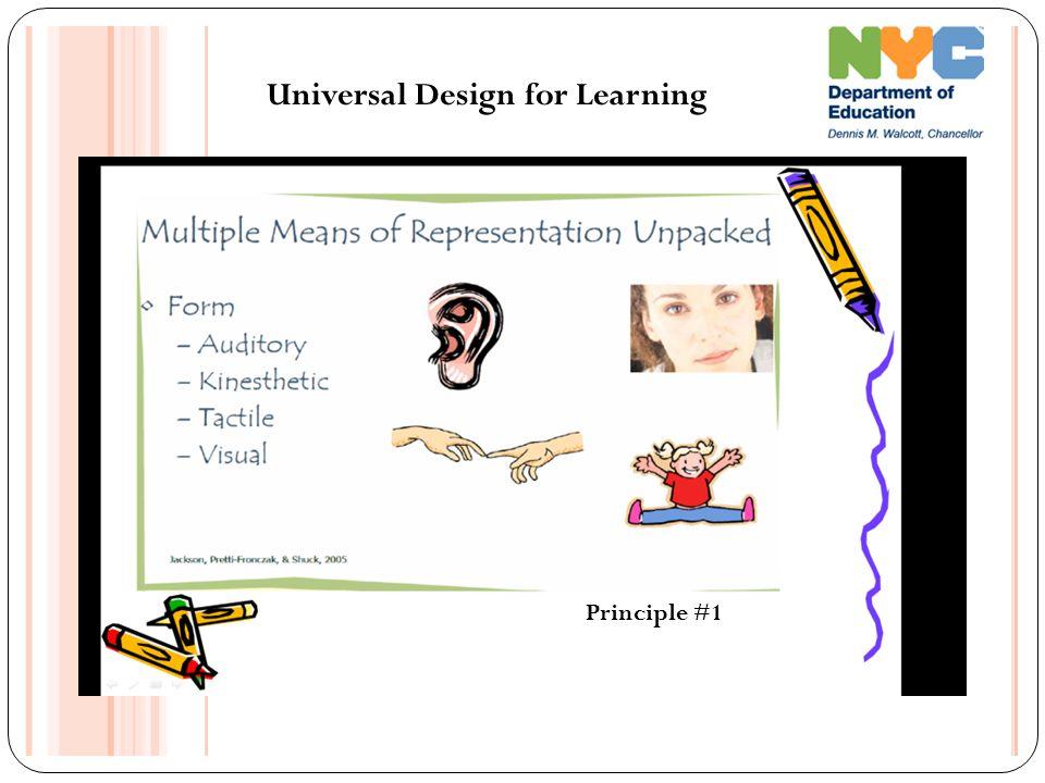 Universal Design for Learning Principle #1