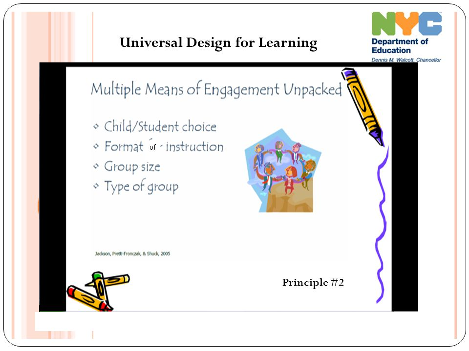 Universal Design for Learning Principle #2 of