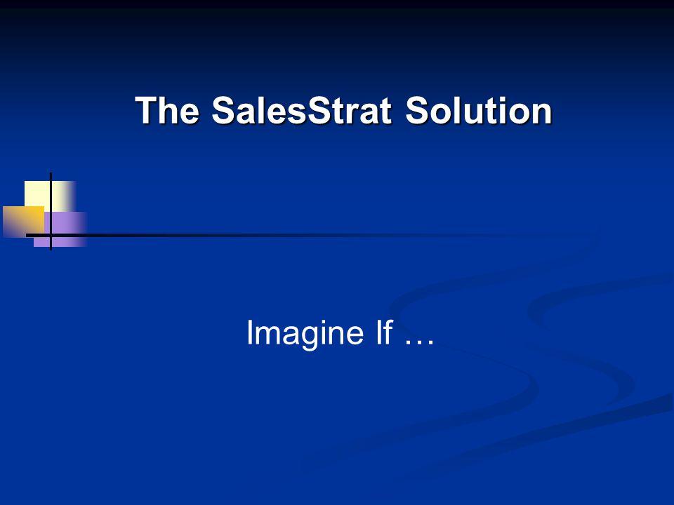 The SalesStrat Solution Imagine If …