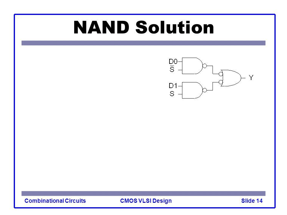 CMOS VLSI DesignCombinational CircuitsSlide 15 NAND Solution