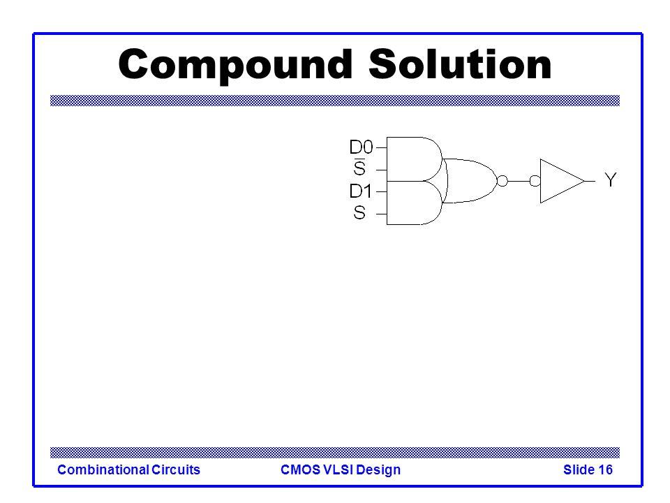 CMOS VLSI DesignCombinational CircuitsSlide 17 Compound Solution