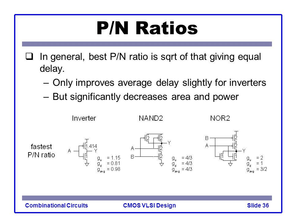 CMOS VLSI DesignCombinational CircuitsSlide 37 Observations For speed: –NAND vs.