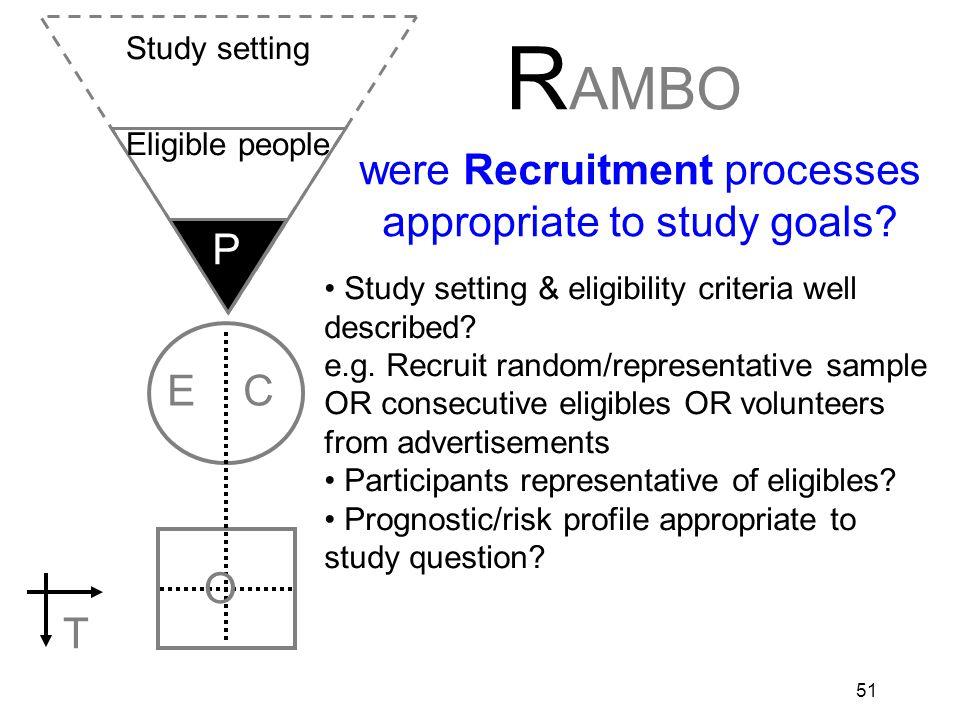 52 EG CG O T RCT: Allocate randomly by investigators (e.g drugs) EG CG O T Cohort: Allocate by measurement (e.g.