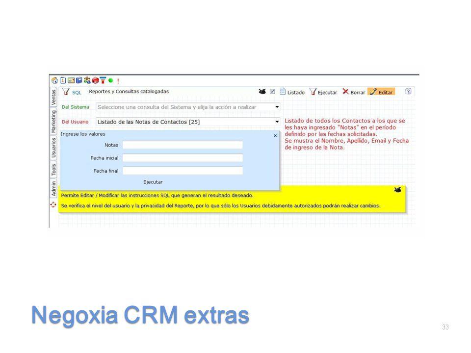 Negoxia CRM extras 33