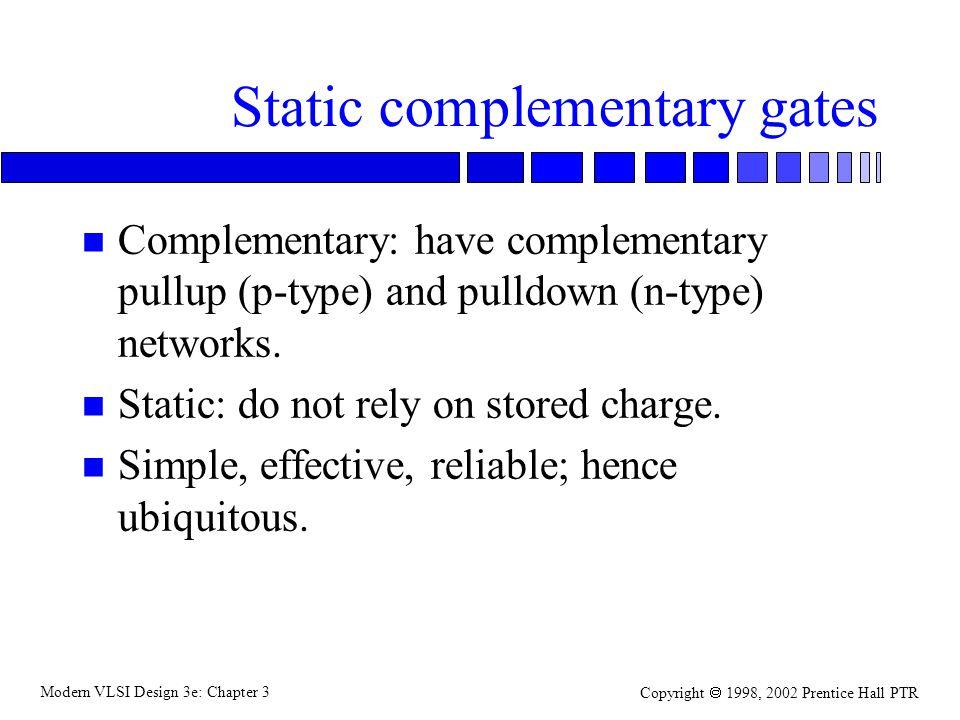 Modern VLSI Design 3e: Chapter 3 Copyright 1998, 2002 Prentice Hall PTR Dual network construction dummy a bc a b c