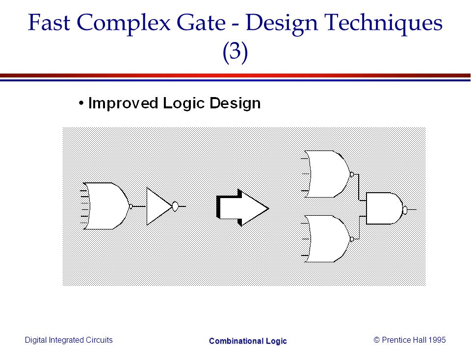 Digital Integrated Circuits© Prentice Hall 1995 Combinational Logic Fast Complex Gate - Design Techniques (3)