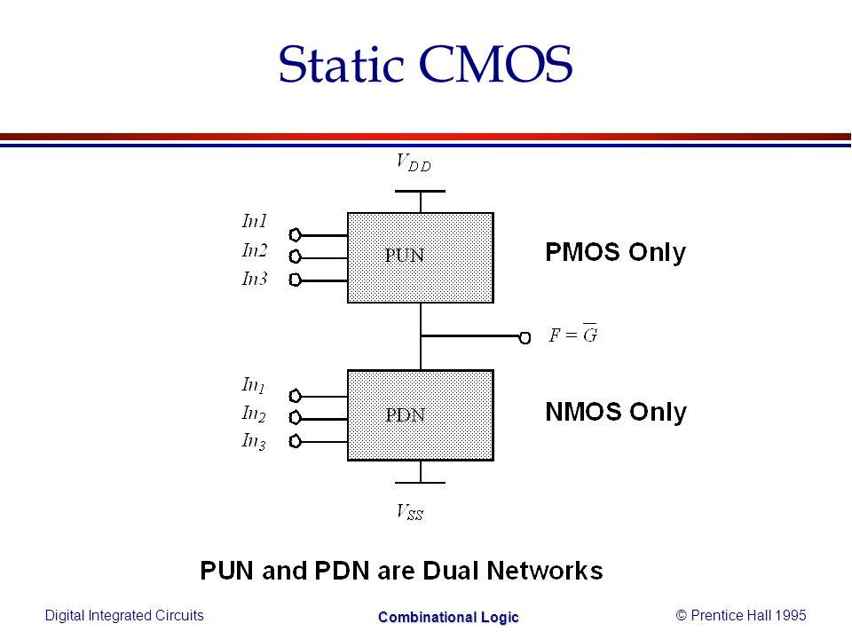 Digital Integrated Circuits© Prentice Hall 1995 Combinational Logic Consistent Euler Path