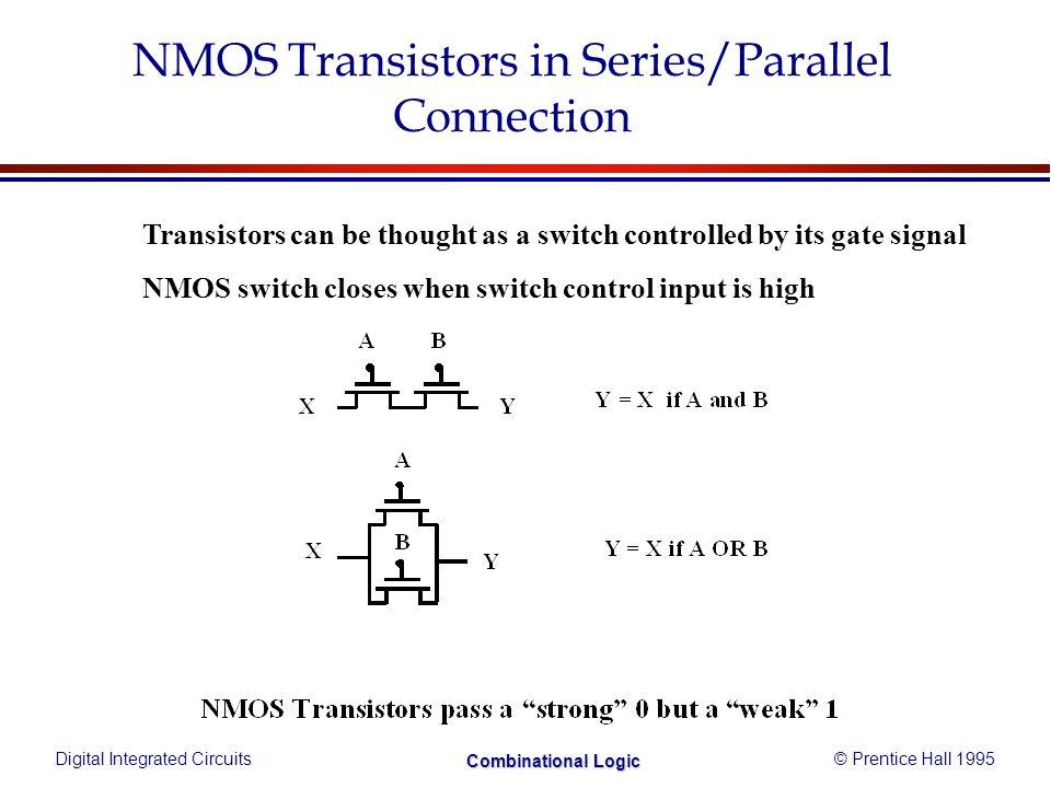Digital Integrated Circuits© Prentice Hall 1995 Combinational Logic Example: x = ab+cd