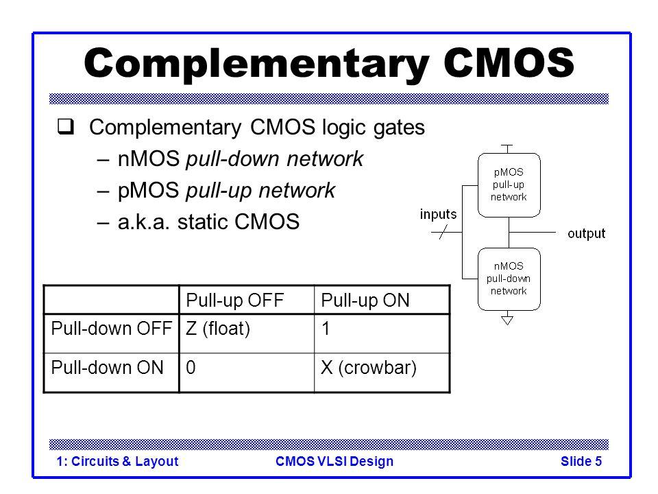 CMOS VLSI Design1: Circuits & LayoutSlide 26 Transmission Gate Mux Nonrestoring mux uses two transmission gates –Only 4 transistors