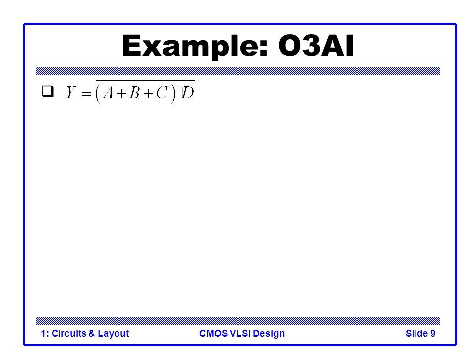 CMOS VLSI Design1: Circuits & LayoutSlide 10 Example: O3AI