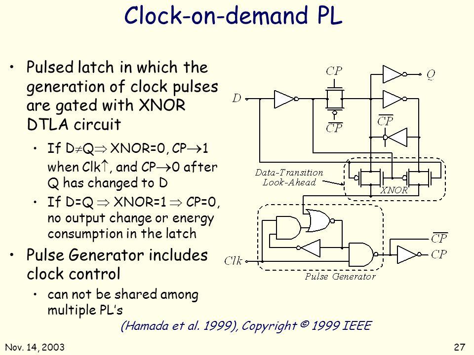 Nov.14, 200327 Clock-on-demand PL (Hamada et al.