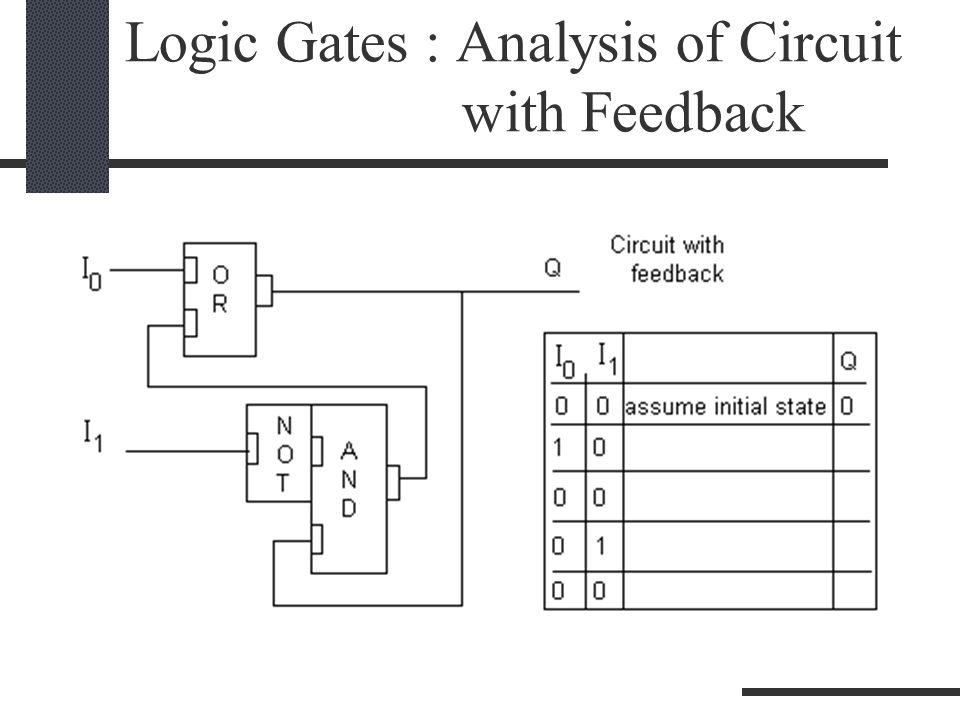 Logic Gates : Analysis of Circuit with Feedback