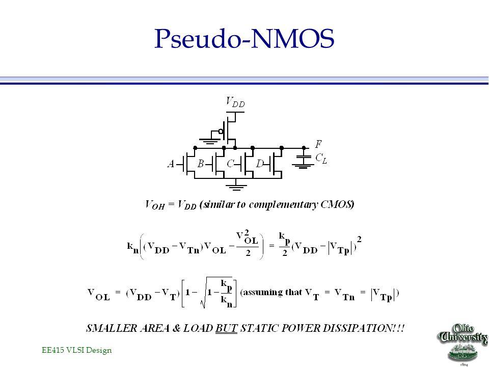 EE415 VLSI Design Pseudo-NMOS