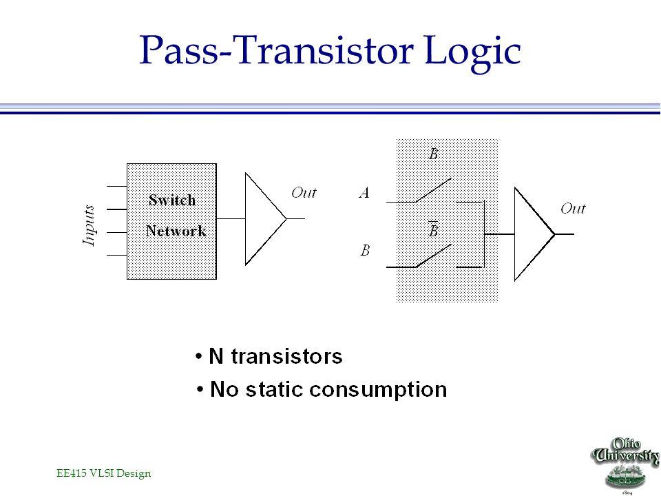 EE415 VLSI Design Pass-Transistor Logic