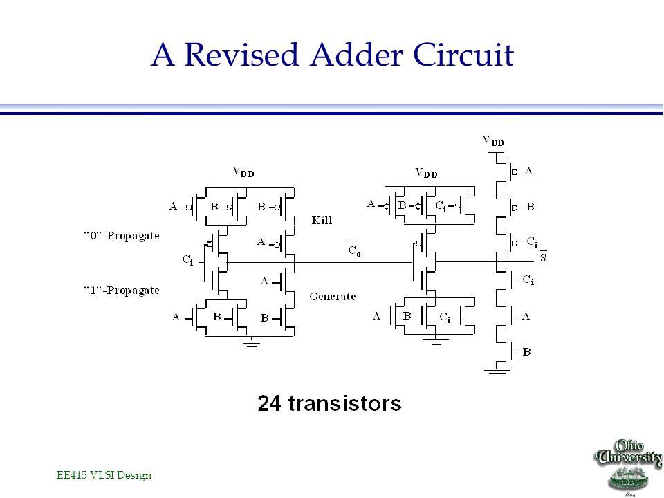 EE415 VLSI Design A Revised Adder Circuit
