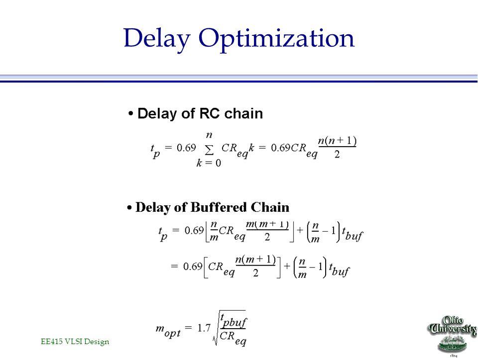 EE415 VLSI Design Delay Optimization